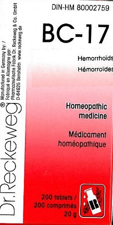 BC-17 Hemorrhoids - 20g (200 tablets)